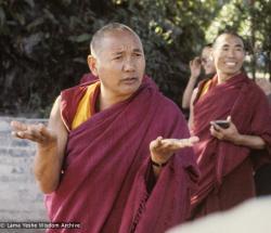 (24665_sl.TIF) Lama Yeshe at Kopan Monastery, Nepal, 1979. Geshe Doga is in the background. Jeff Nye (photographer)