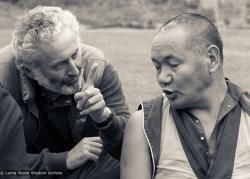 (24976_ng-3.jpg) Lama Yeshe with John Schwartz, Manjushri Institute, 1979. Robin Bath (photographer)