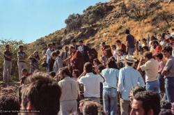 (25051_ng.TIF) H.H. Dalai Lama at O Sel Ling. In September of 1982, H.H. Dalai Lama visited this retreat center that the lamas had just set up in Bubion, a small town near the Alpujarra mountains near Granada, Spain. At the end of His Holiness teaching he named the center O Sel Ling. Photo by Pablo Giralt de Arquer.