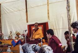 (25103_ng.TIF) In September of 1982, H.H. Dalai Lama visited this retreat center that the lamas had just set up in Bubion, a small town near the Alpujarra mountains near Granada, Spain. At the end of His Holiness teaching he named the center O Sel Ling. Photo by Pablo Giralt de Arquer.