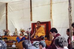 (25112_ng.TIF) In September of 1982, H.H. Dalai Lama visited this retreat center that the lamas had just set up in Bubion, a small town near the Alpujarra mountains near Granada, Spain.  At the end of His Holiness teaching he named the center O Sel Ling. Photo by Pablo Giralt de Arquer.