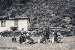 (25191_ng-3.psd) Lama Yeshe and Lama Zopa Rinpoche arrive at Lukla Airport, Solu Kumbhu, Nepal, 1973.