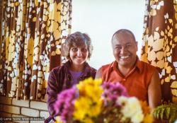 (25779_pr-3.psd) Lama Yeshe with Maria Nagy, Caloundra, Australia, 1981.