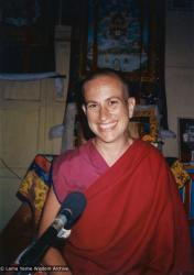 (26771_pr-3.TIF) Thubten Chodron, Tushita Retreat Centre, Dharamsala, India, ca 1980.