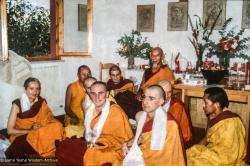 (30408_sl-3.psd) Ordination with the lamas and Zong Rinpoche, Istituto Lama Tzong Khapa, Italy, 1978.