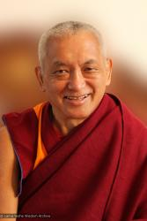 (34502_ud-3.psd) Protraits of Lama Zopa Rinpoche, 2010. Photo by Roger Kunsang.