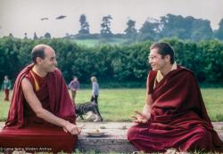 (34528_pr-3.psd) Nick Ribush and Chris Kolb (Ngawang Chotak) at Manjushri Institute, England, 1978. Marcel Bertels (donor)