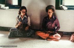 (36758_pr-3.psd) Jan Willis (Losang Chokyi) and Randy Solick, Kopan Monastery, 1972. Jan Willis (donor)