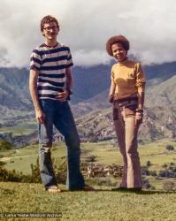 (36768_pr-6.psd) Robbie Solick and Jan Willis, Kopan Monastery, 1972. Jan Willis (donor)