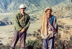 (38044_pr.jpg) John Landaw and Andy Weber, Kopan Monastery, 1975.