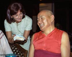 (38156_ng-3.jpg) Lama Yeshe with Trisha Donnelly (Trisha Labdron), New Delhi, India,1983.
