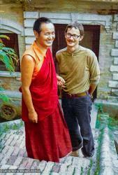 (39233_ud-3.psd) Lama Yeshe, Robbie Solick, 1970, Kopan Monastery. Courtesy Robbie Solick
