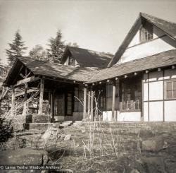(39243_ng-3.tif) An early photo of Tushita Retreat Centre, Dharamsala, 1972.