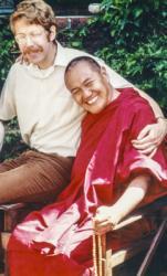 (39281_pr-3.psd) Lama with Howard Fields, Berkeley,  CA, 1977. Carol Fields (donor)