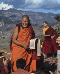 (39377_sl-3.psd) Lama Yeshe and Thubten Pelgye (John Douthitt), Kopan Monastery, 1978.