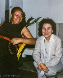 (39406_pr-3.psd) Lama Yeshe and Radmila Moacanin, Istituto Lama Tzong Khapa, Italy, 1983.