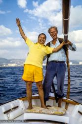 (39418_sl-3.jpg) Lama Yeshe with Frederik van Pallandt (of Nina and Frederik fame), Ibiza, Spain, 1978.