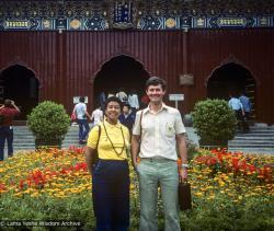 (39465_sl-3.jpg) Max Mathews and Marcel Bertels, Hong Kong, China, 1982.