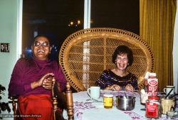 (39483_sl-3.jpg) Lama Yeshe with Lucille Cayton (mother of Karuna Cayton), Aptos, CA, 1983.