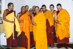 (39548_sl-3.tif) Nalanda Sangha with the lamas, Nalanda Monastery, Lavaur, France, 1983.