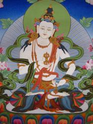Vajrasattva, painted by Nepali-Tibetan artists. Photo courtesy of FPMT.