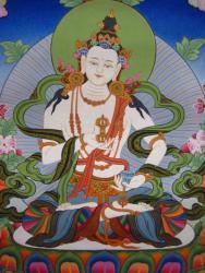 Vajrasattva, painted by Nepali-Tibetan artists for FPMT Foundation Store.