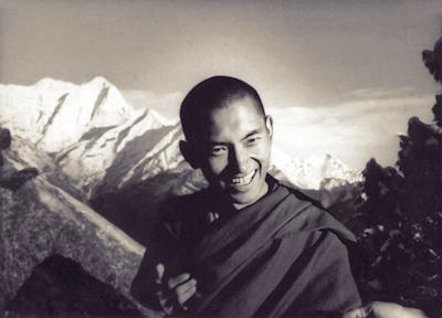 Kyabje Zopa Rinpoche at Lawudo Retreat Centre, Solu Khumbu, Nepal, 1970. Photo possibly by Terry Clifford.