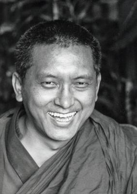 Lama Zopa Rinpoche, Geneva, Switzerland,1983. Photo: Ueli Minder.