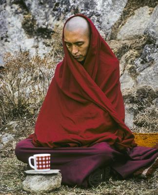 Lama Zopa Rinpoche, Mende, Nepal, 1978. Photo: Ueli Minder.