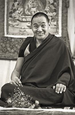Lama Yeshe teaching at Royal Holloway College, UK, 1975. Photo: Dennis Heslop.