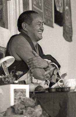 Lama Yeshe teaching, Manjushri Institute, England, 1976.