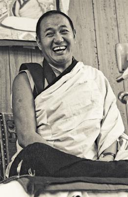 Lama Yeshe, 1975, Lake Arrowhead, California during the first American course. Photo by Carol Royce-Wilder.