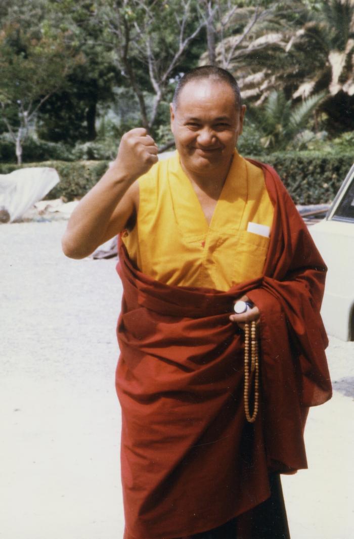 Lama Yeshe in Switzerland, 1978. Photo by Ueli Minder.