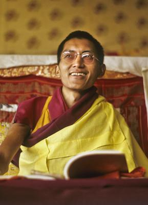 Lama Zopa Rinpoche teaching at the 7th Kopan Lamrim Course, Kopan Monastery, Nepal, 1974. Photo: Wendy Finster.