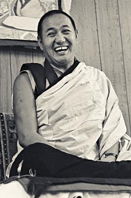 Lama Yeshe teaching in 1975 at Lake Arrowhead, California during the first American course. Photo by Carol Royce-Wilder.