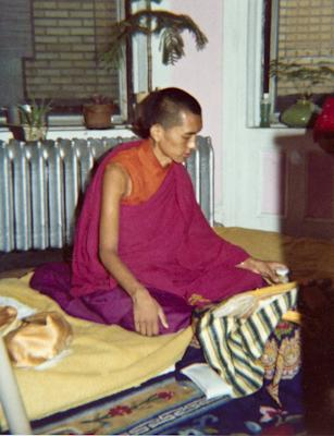 Lama Zopa Rinpoche meditating in New York City, 1974. Photo: Robbie Solick.