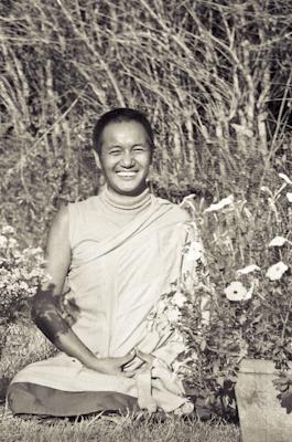 Lama Yeshe at Kopan Monastery, Nepal, 1971. Photo: Fred von Allmen.