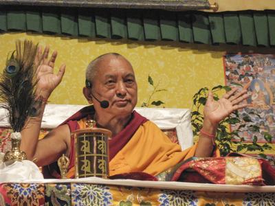Lama Zopa Rinpoche, 2009. Photo: Kunsang Thubten (Henri Lopez).