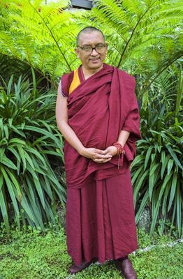 Lama Zopa Rinpoche at Chenrezig Institute, Australia, 1991. Photo: Thubten Yeshe.