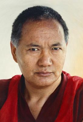 Portrait of Lama Yeshe, Geneva, Switzerland, 1983. Photo by Ueli Minder.