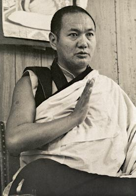 Lama Yeshe teaching in 1975 at Lake Arrowhead, California during the first American course by the Lamas. Photos by Carol Royce-Wilder.
