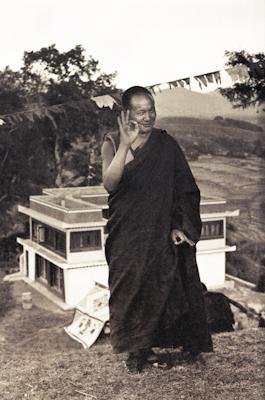 Lama Yeshe on the hill above Kopan Monastery, Nepal, 1972.