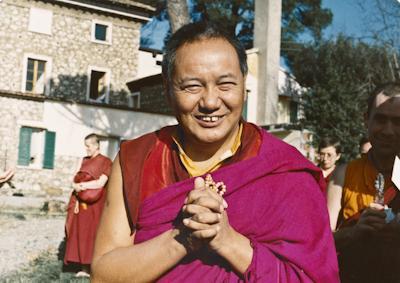 Lama Yeshe at Istituto Lama Tzong Khapa, Pomaia, Italy, 1983. Photo: Merry Colony.