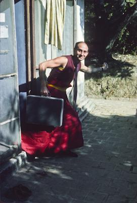 Nick Ribush at Tushita Retreat Centre, Dharamsala, India, 1975.