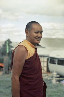 Portrait of Lama Yeshe during the month-long course at Chenrezig Institute, Australia, 1975.