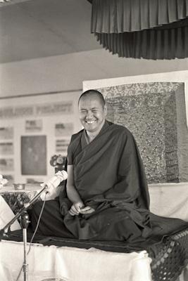 Lama Yeshe teaching at Chenrezig Institute, Australia, 1976.