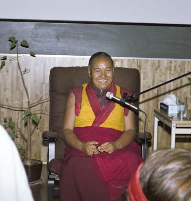 Lama Yeshe at Etnografiska Museet in Stockholm, Sweden, September, 1983. Photo by Holger Hjorth.