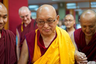 Lama Zopa Rinpoche at Chokyi Gyaltsen Centre, Penang, Malyasia, March 2016. Photo: Bill Kane.