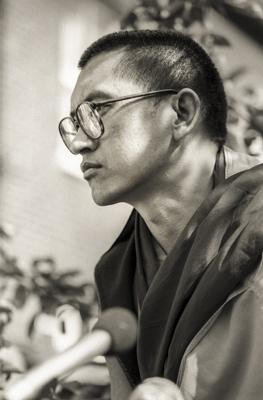 Lama Zopa Rinpoche at Manjushri London (Jamyang Buddhist Centre), 1983. Photo: Robin Bath.