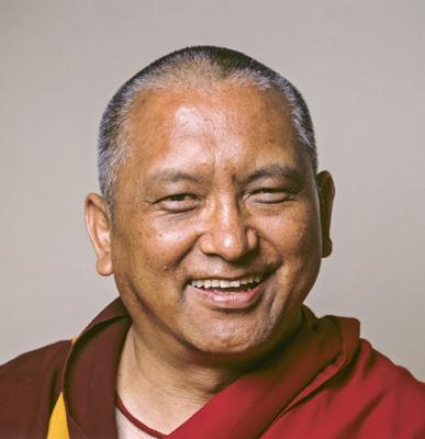 Portrait of Lama Zopa Rinpoche, 1999.